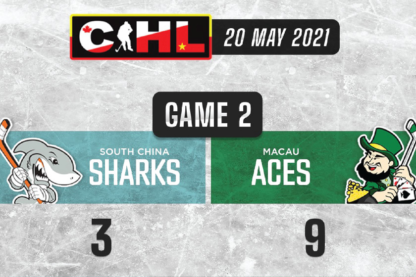 Olsen Scores Three as Aces Down the Sharks 9-3